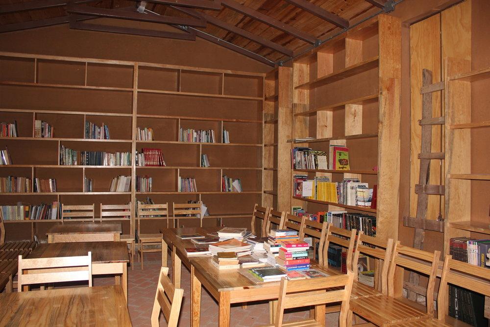 SACRED contributed books  to a library in Zaachila, Oaxaca