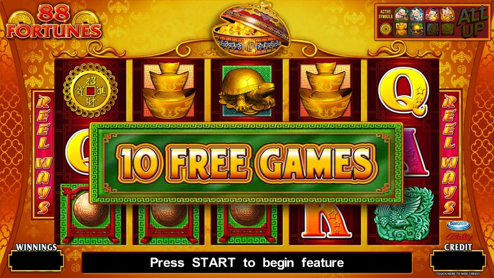 Free Spins in 88 Fortunes by SG Gaming