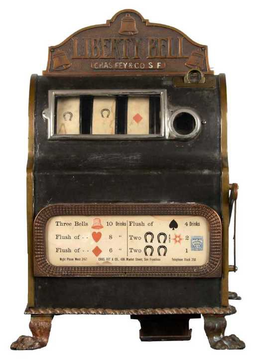 5-cent Charles Fey Liberty Bell Slot Machine