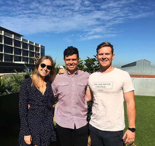 The EWG Academy Team - Michaela Langsdale (Left) , Judd Lanyon (Centre), Lachlan McLean (Right)