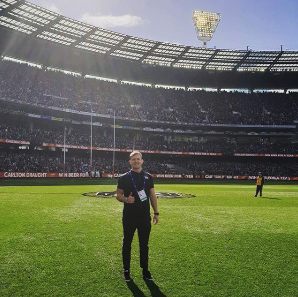 Lachlan McLean at the 2018 AFL Grand final in front of a 100 000 packed MCG Stadium!