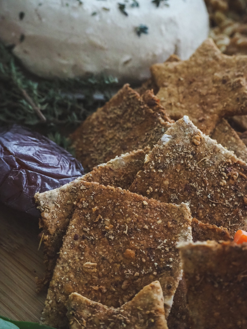 Cardamom Crackers   Easy Whole Food Plant-Based, Oil-Free, Vegan Recipe, Appetizer, and Snack  Photo by © Elena Hollenhorst