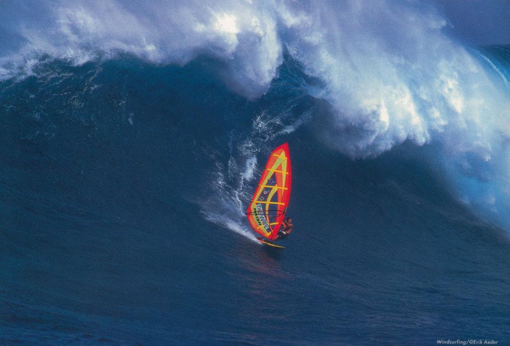 Pete Cabrinha. Jaws, Maui.