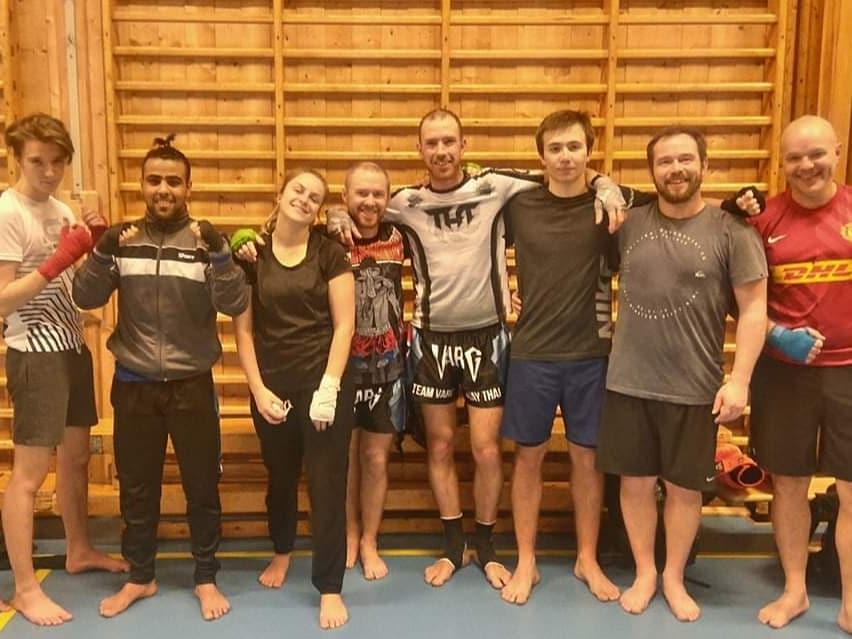 En liten gruppe møttes på første trening for 2019.
