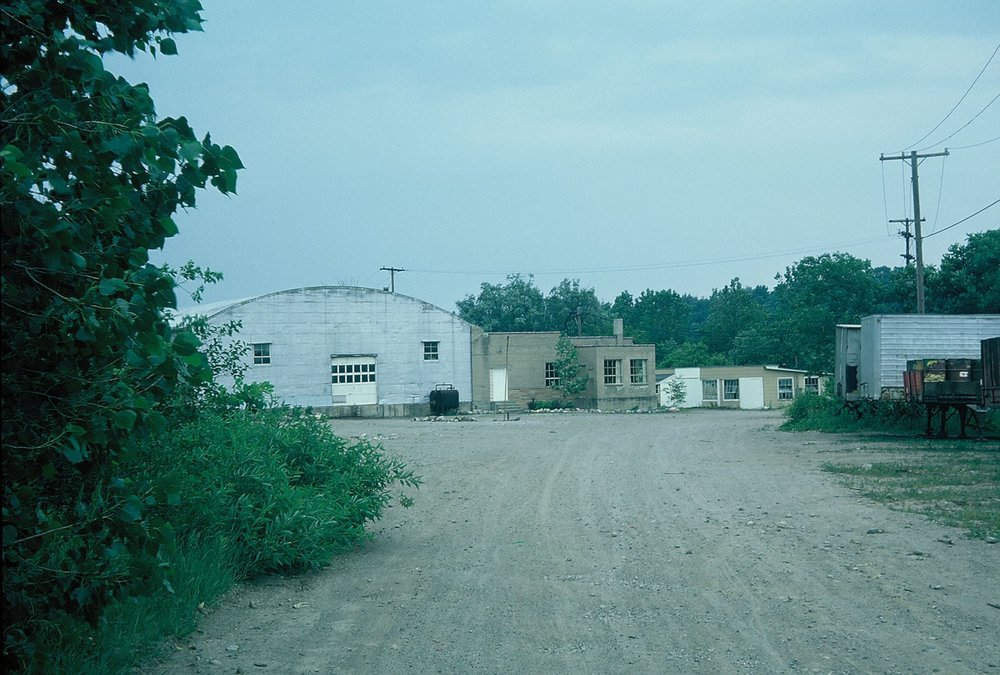 Warehouse near Argo Pond that served as the first storage space for the club. June 1976.