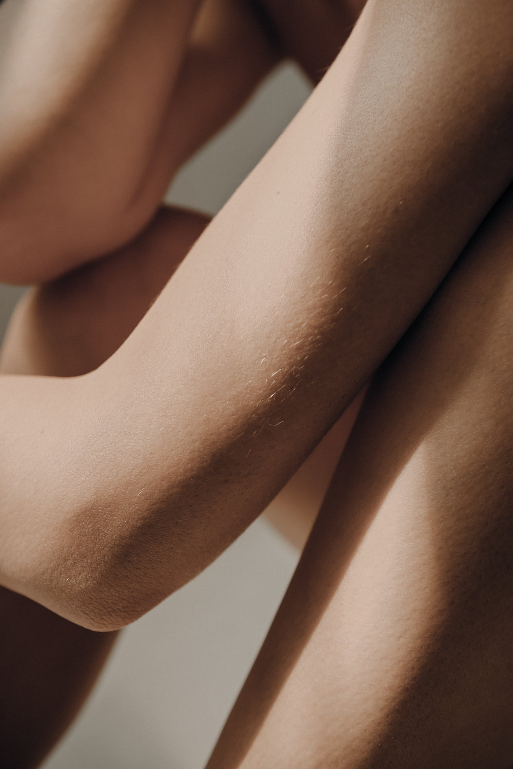 Woman's arms and legs skin