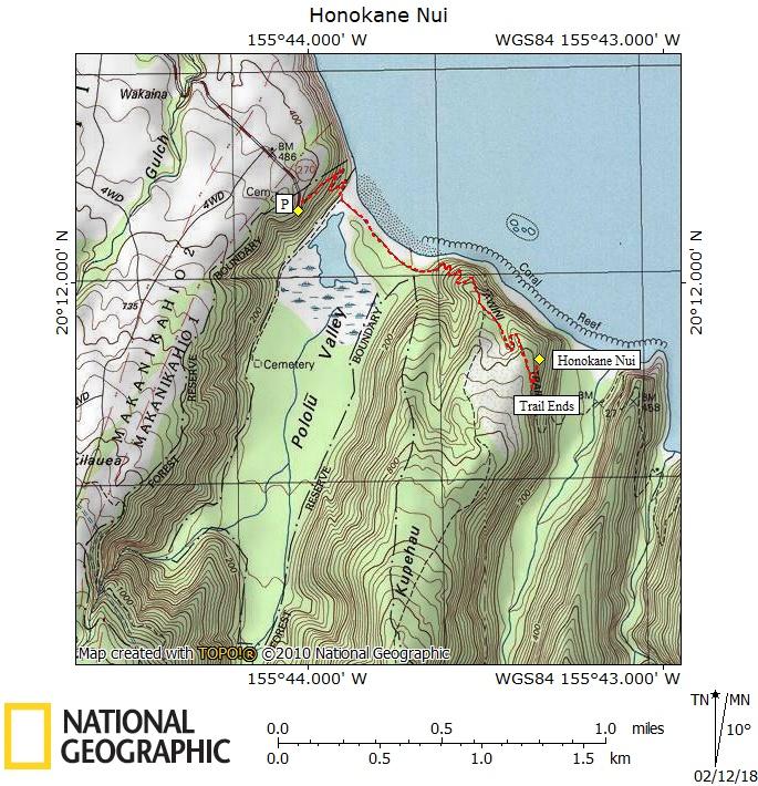 Honokāne Nui Map