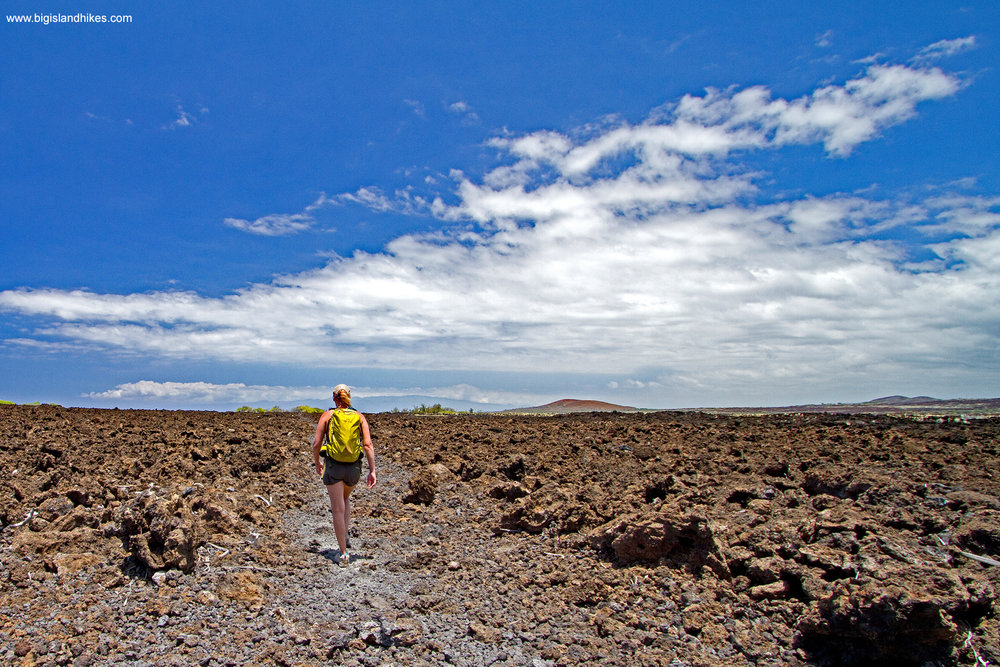 Hiking Across Lava to Makalawena Beach