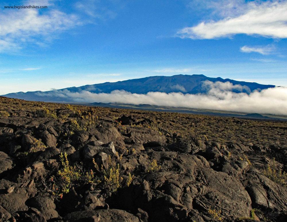 Mauna Kea from the Slopes of Mauna Loa