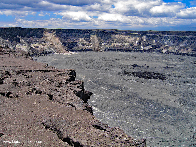 On the Edge of Halema'uma'u in 2005 (This part of the trail is now closed)