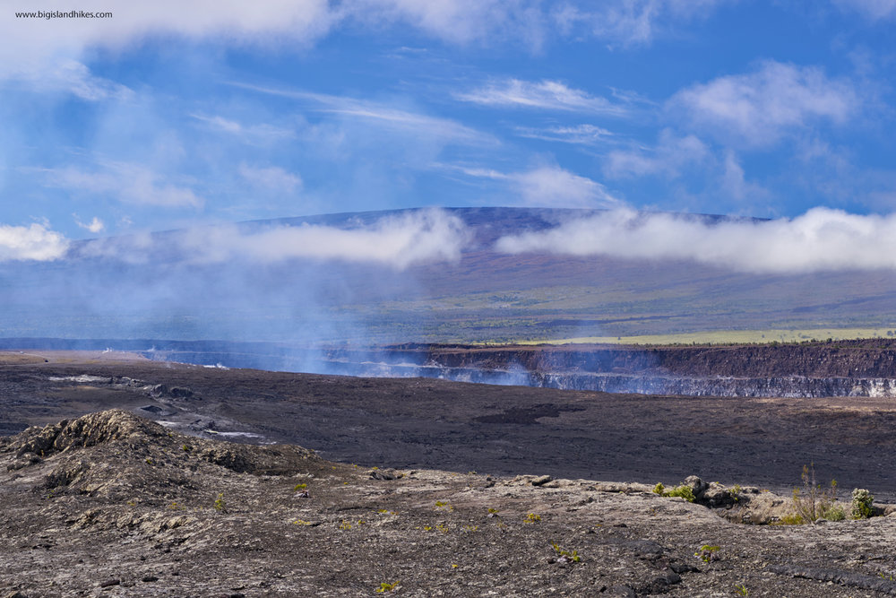 Halema'uma'u erupting in Early 2018. This is the end of the Hike.