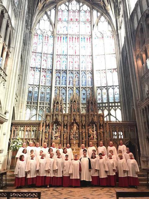St. John's Choir in residence at Glouchester Cathedral