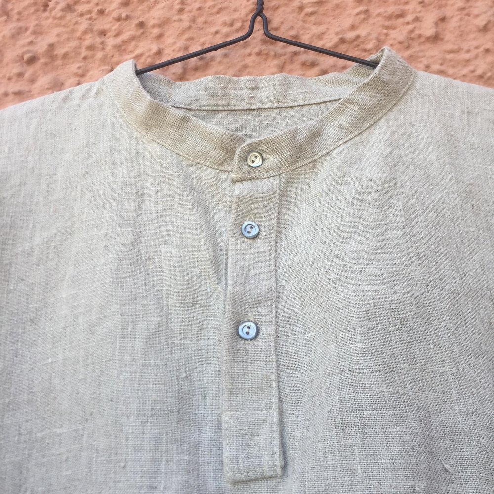 Half Button Down Stand Collar Easy Piece Shirt Prototype Bybaba 2018 b.jpg