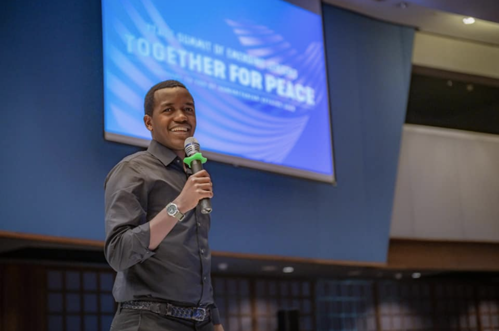 Speaking at the Peace Summit of Emerging Leaders December 2018, at the UN Conference Centre in Bangkok. Thanks to UN Asia and Humanitarian Affairs this was an opportunity to remind ourselves to share joy and peace instead of resentment and anger.