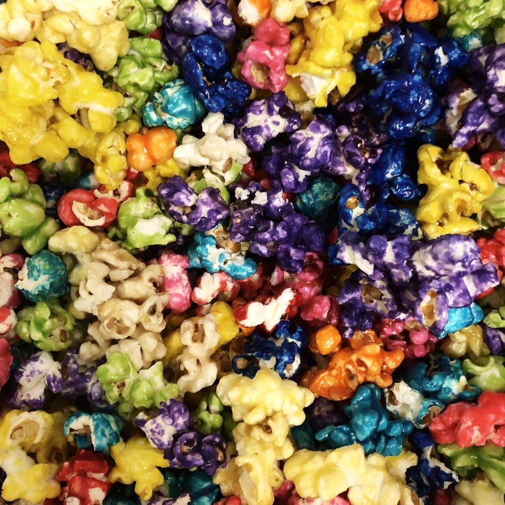 Sweet Popcorn - A sweet glaze to make our popcorn a candy treat!Banana, Birthday Cake, Blueberry, Blue Raspberry, Bubblegum, Cherry, Cinnamon, Cinnamon Toast, Grape, Green Apple, Orange, Pina Colada, Rainbow, Strawberry, Toffee, Vanilla, Watermelon