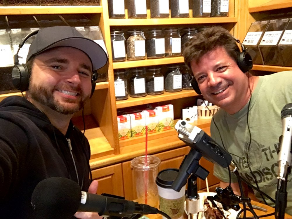 Jake Deptula (L) and Bill Thill (R) enjoying coffee and conversation at Priscilla's in Toluca Lake.
