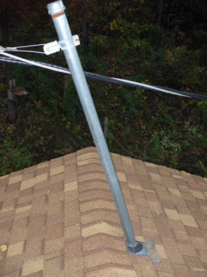 Damaged Electrical Service Mast