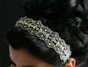Grandeur Headband - a statement crystal headband with filigree design