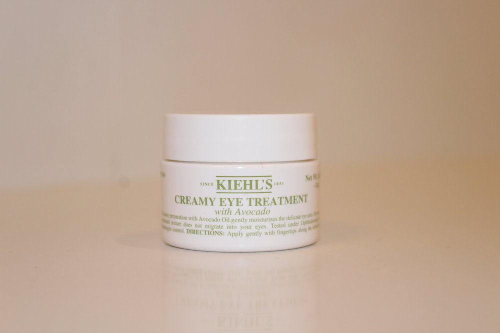 KIEHL'S CREAMY EYE CREAM - This eye cream is super helpful if you ever have puffy eyes or dark circles. It had avocado and is moisturizing and gentle on your sensitive under-eyes.