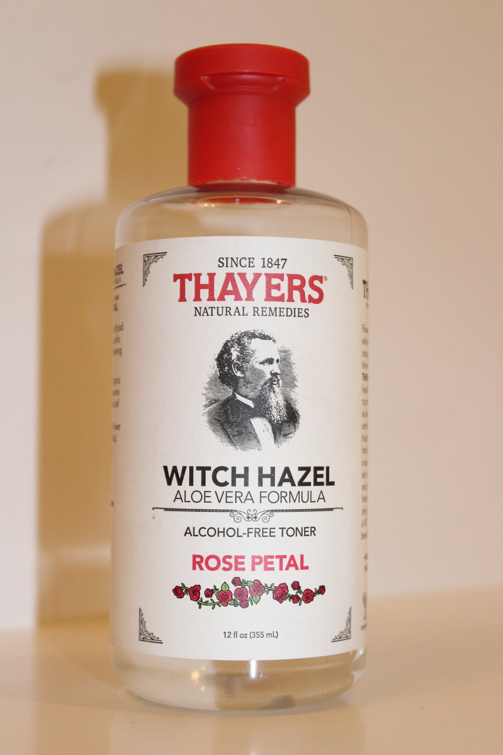 THAYERS WITCH HAAEL TONER - Thayers Witch Hazel Toner is the perfect morning toner to make your face feel fresh and ready for the day, whether or not you put on makeup. It is natural, which I love, and super effective. It helps with redness, acne, and overall texture.