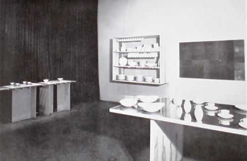 Installation at the Museum of Modern Art in New York, 1947. From  Eva Zeisel: Designer for Industry , 1984