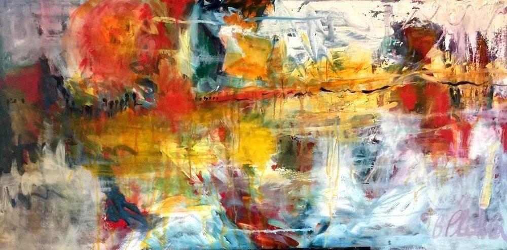 Barbara Pliskin - Reflections - 24 x 48 - oil on canvas
