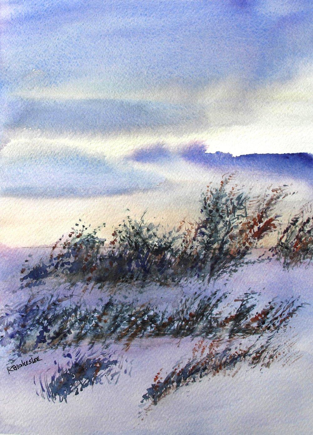 Katherine Blakeslee - January Light - 14 x 11 - watercolor