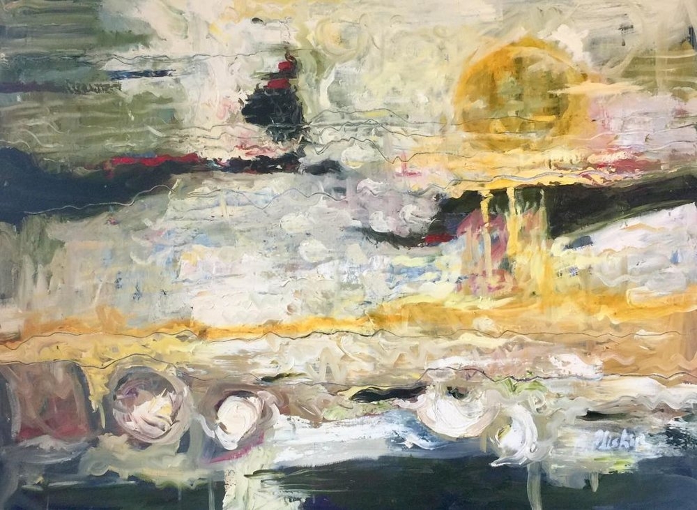 Barbara Pliskin - Sun Series - 30 x 40 - oil on canvas
