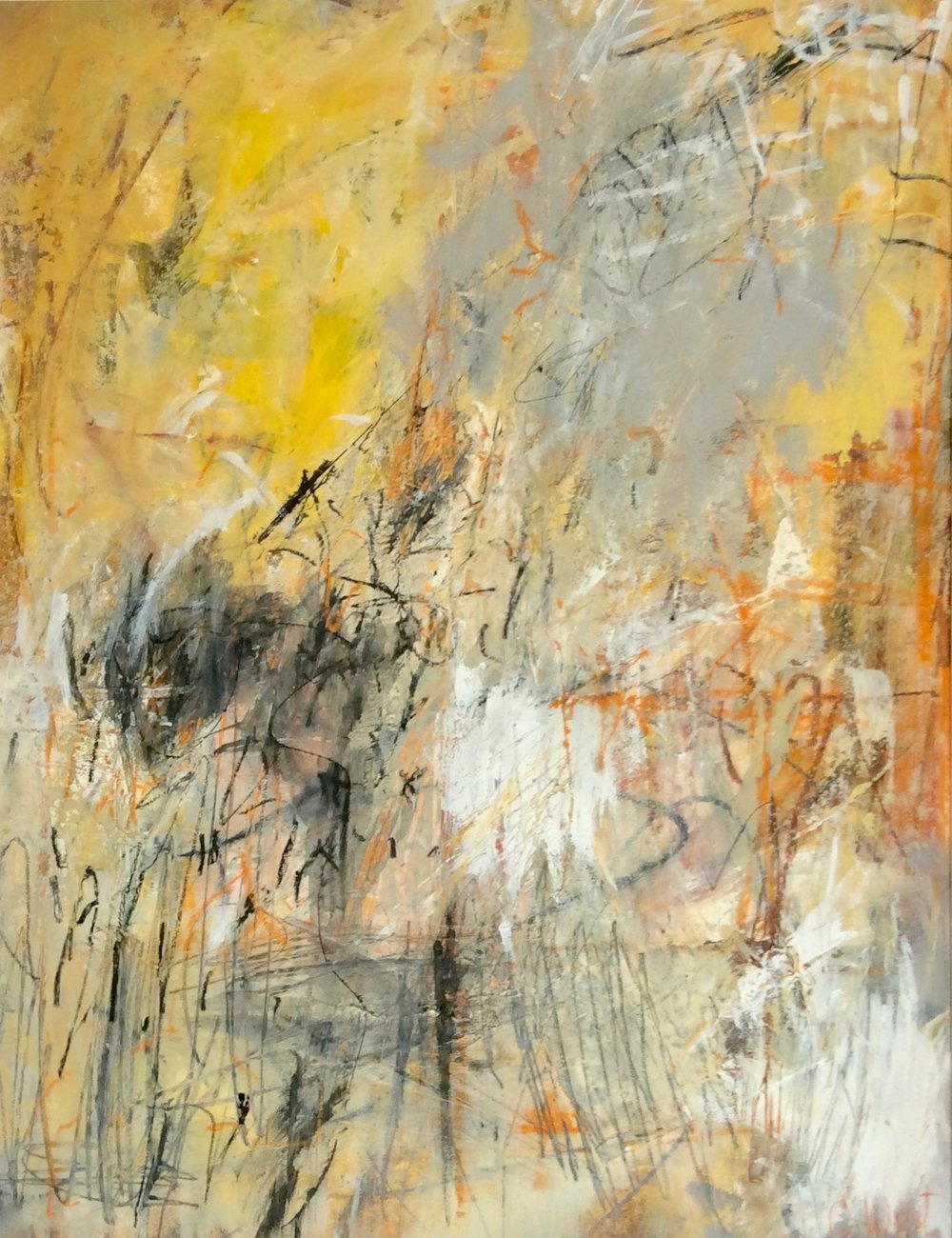 Cristy West - Beehive - 21 x 16 - mixed media on paper larger