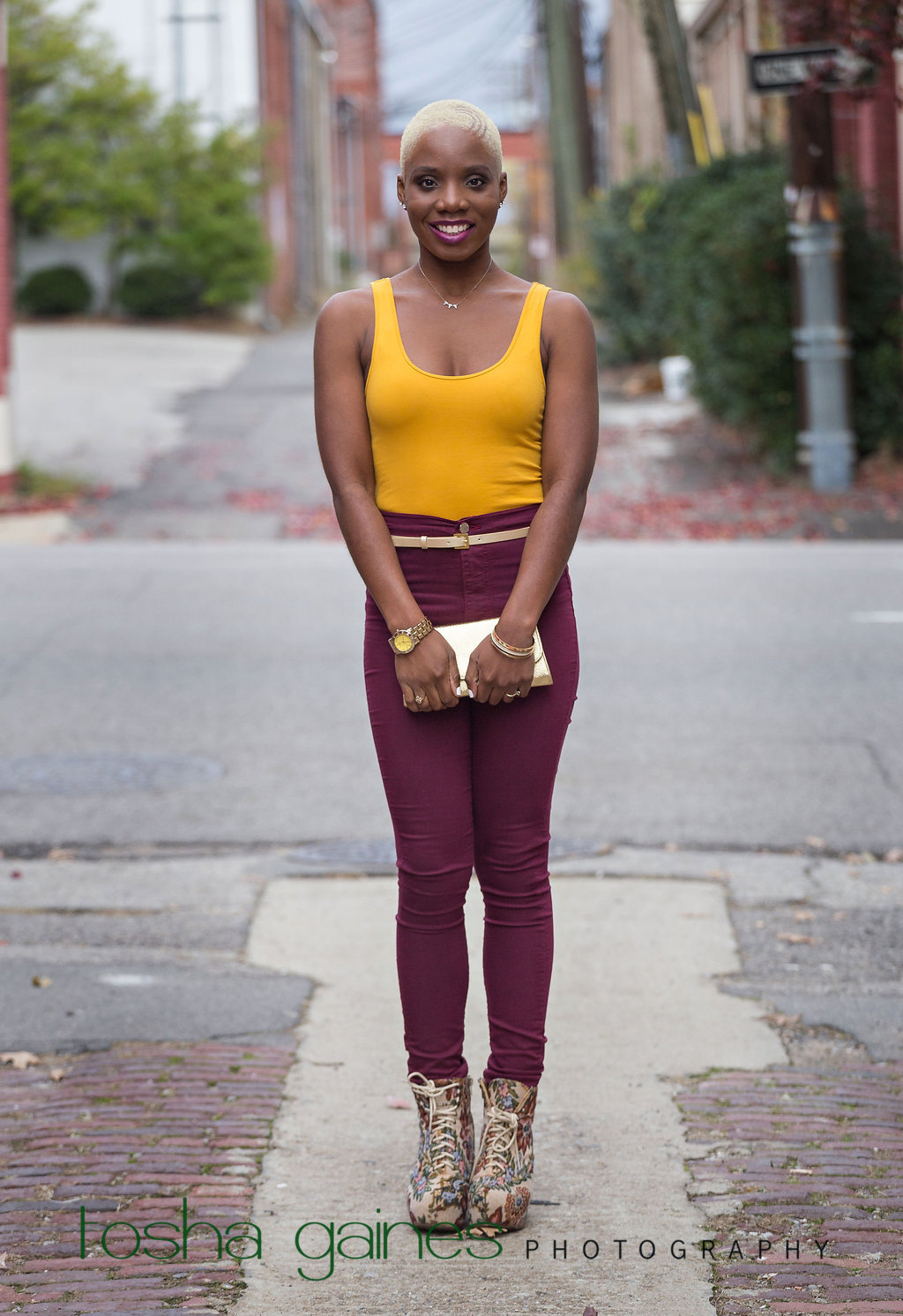 maroon high waist pants