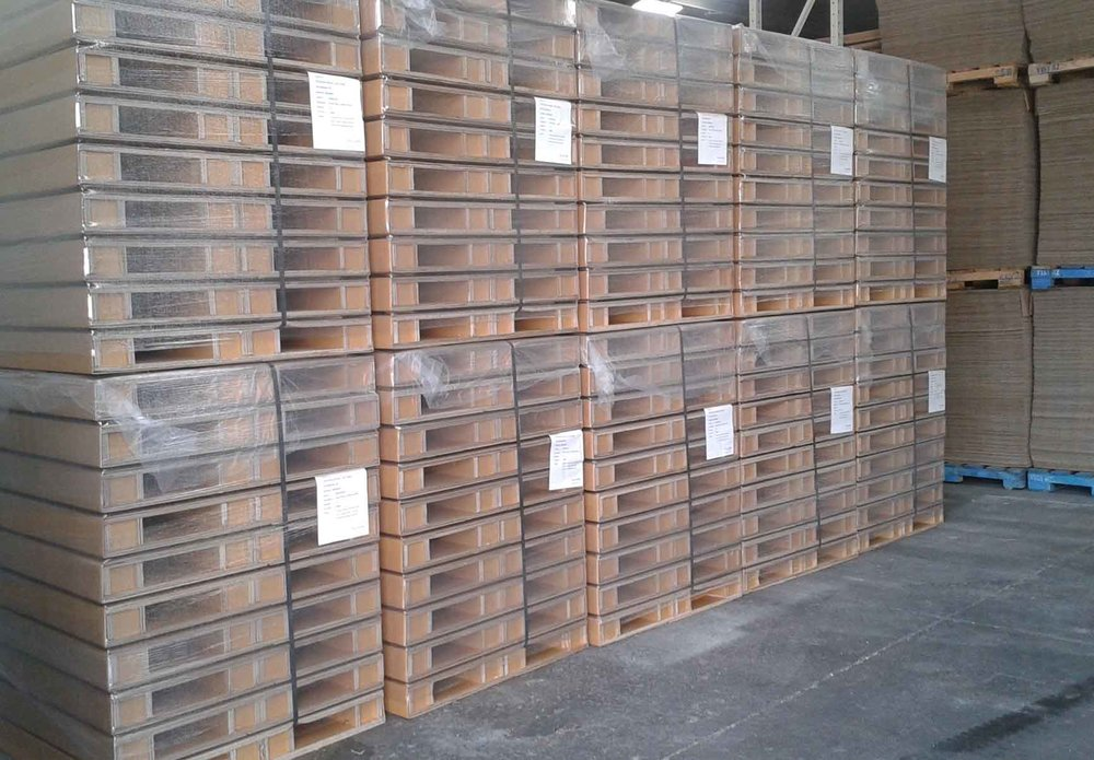 Lower cost - In most cases, the cost of a DoubleEco paperboard pallet is comparable to – or lower than – an export wooden pallet, saving you money.