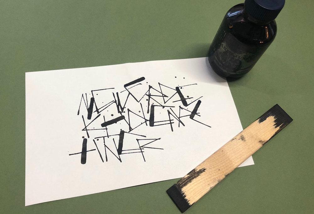 Experimentelle Kalligrafie  | Schriftschatz | Duesseldorf