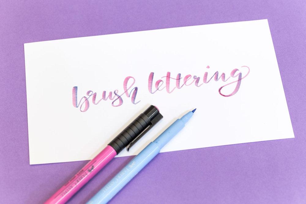 Brush lettering | Schriftschatz | Düsseldorf Gaby Trombello-Wirkus Workshops Handschrift