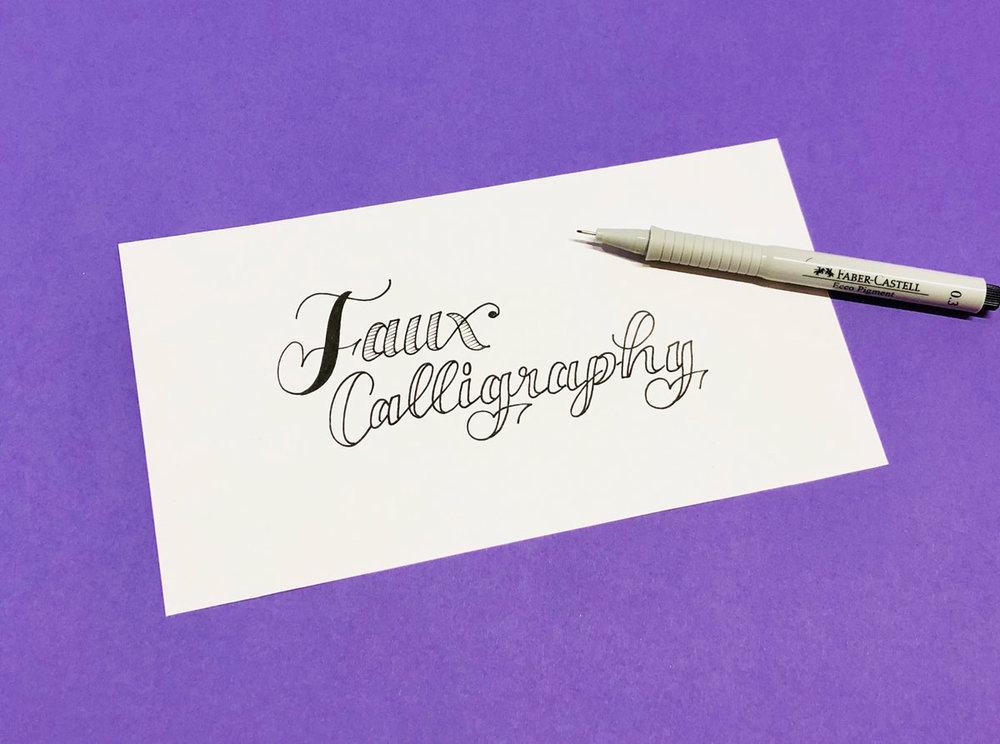 Faux Calligraphy Kursangebot | Schriftschatz | Duesseldorf