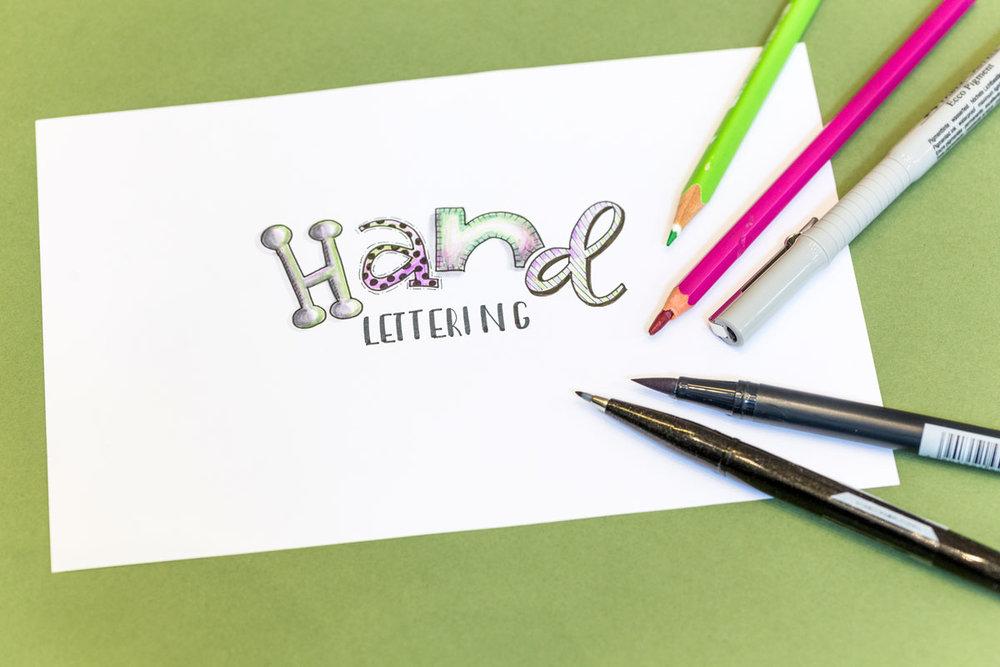 Hand lettering Kursangebot | Schriftschatz | Duesseldorf