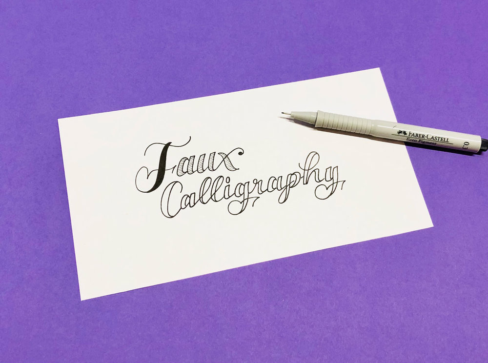 Faux Calligraphy | Schriftschatz | Duesseldorf