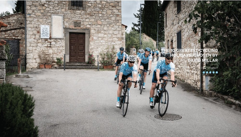 Group riding in Italy