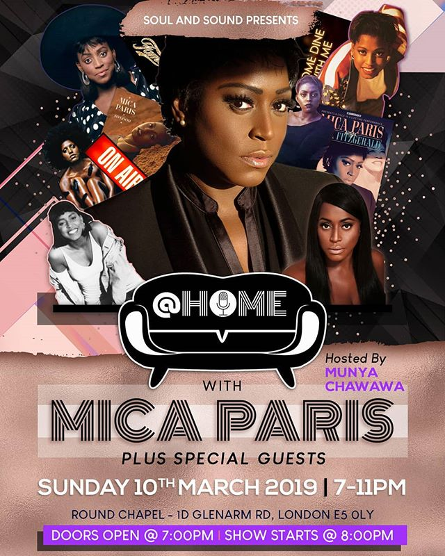 @ Home With @mica_paris_soul tickets available right now!!!! 😎💥🎶🎙link in bio or click event page on Facebook 😀