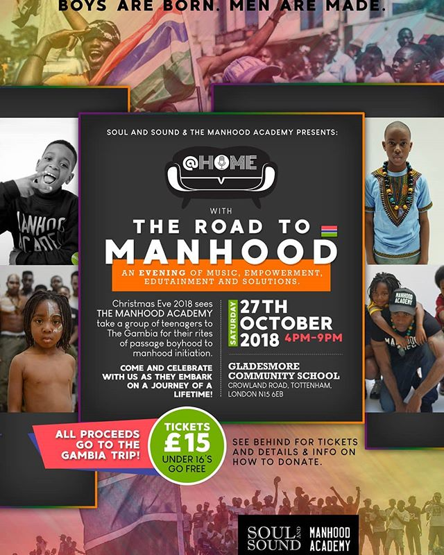 BLACK HISTORY MONTH FUNDRAISER 🇬🇲🇬🇲 ✊🏾✊🏾 We have teamed up with @manhoodacademy for this special event in which we will be sending some of our young boys to The Gambia with your help!!! CLICK THE LINK IN THE BIO FOR MORE INFO!!!! #blackhistorymonth #gambia