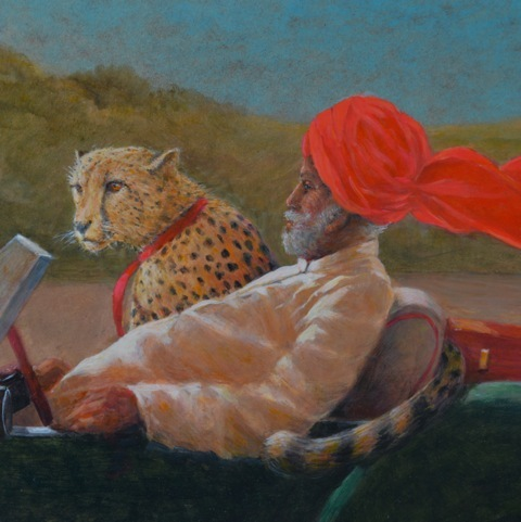 Maharaja with cheetah