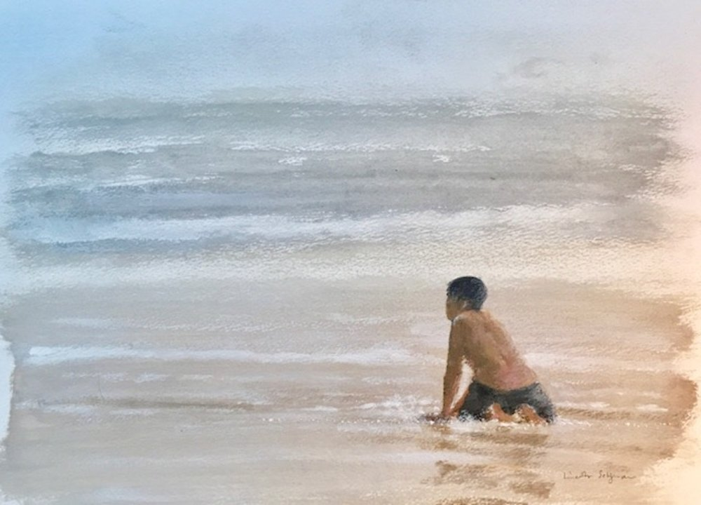 Boy in the shallows