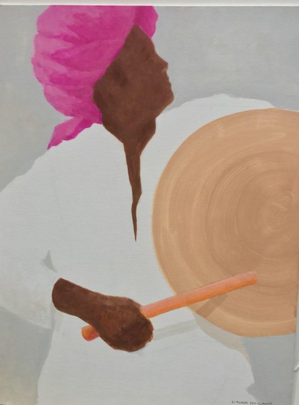 Drummer, pink Turban
