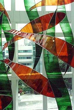A suspended sculpture, Festival Walk, Hong Kong