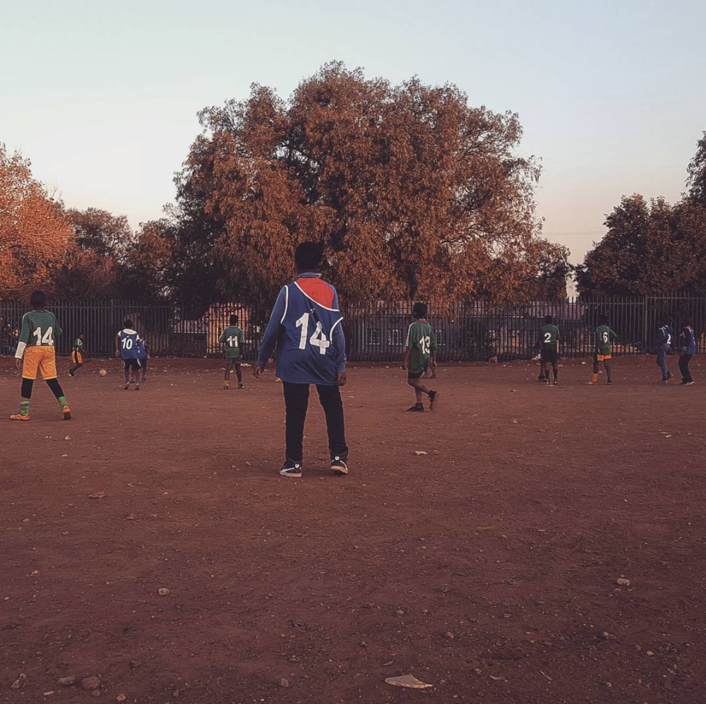 Kids playing soccer  Sharpeville©