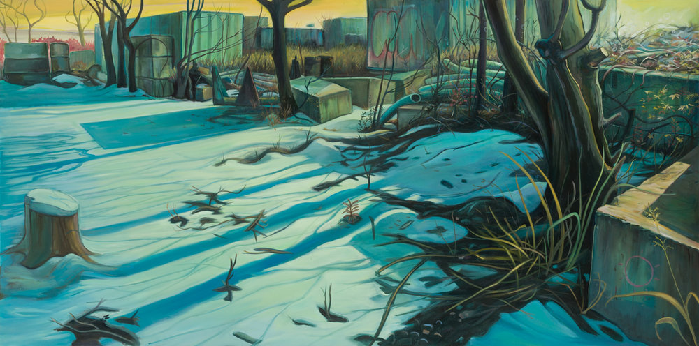 Last Winter, oil on canvas, 42 x 84 inches