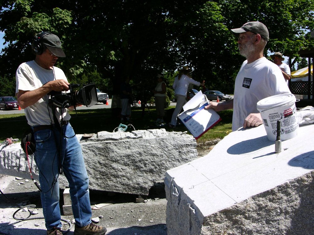 Director Richard Kane with Sculptors Don Meserve and Mark Herrington. Photo by Craig Schoppe