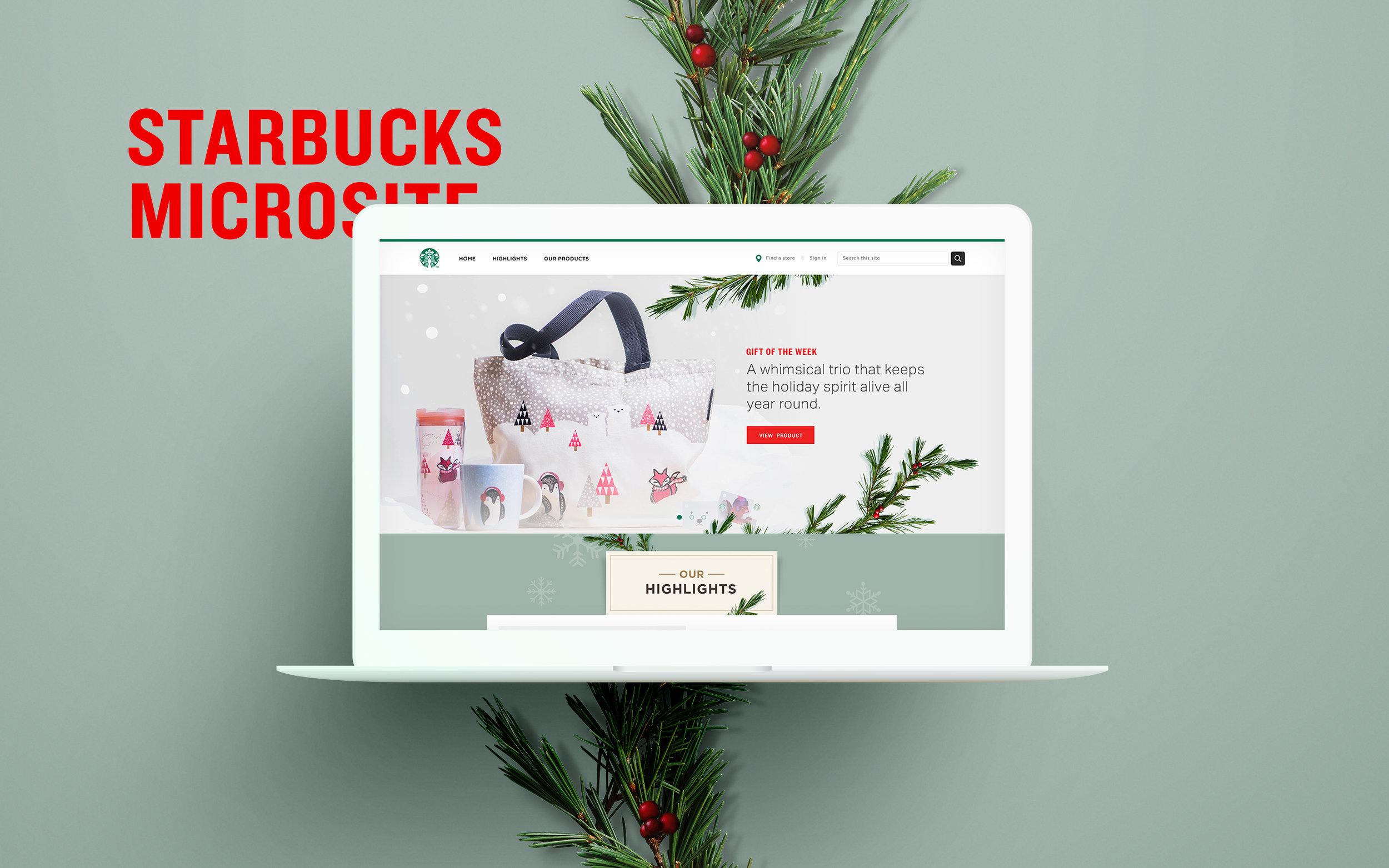 Starbucks Christmas Website — Chrys Ramoso