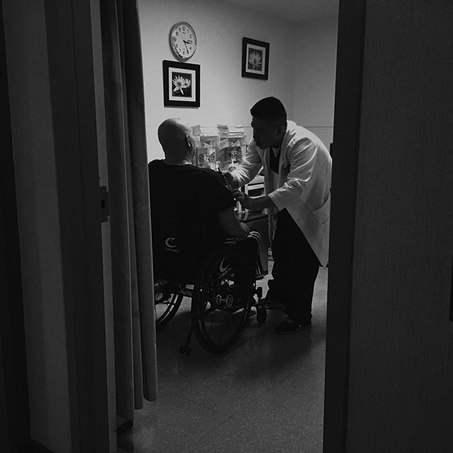 "I Can't. You Can.  Since last posting, Dave has been in and out of the hospital with extreme headaches and fevers. His body is increasingly weaker and there are episodes of passing out. There is still no leukemia in his body or brain, and we are very grateful for that. But unfortunately he is much weaker. Most of his days are spent in bed, not strong enough for us to get him into the wheelchair. To be perfectly honest, it's a torment to watch the suffering and struggle of someone you love. God is helping us with that. Yet through it all, Dave continues to trust God, reaching out to others, always studying for the next message. Even from a bed, he loves his kids, his grandkids, and his church. Even with failing physical strength, his heart to serve God is steadfast and his prayers for you are strong.  Today is a big Cedars day, filled with ultrasounds and MRIs. Please pray that God would give Dave the strength he needs. Please pray. Thank you for every one of your prayers.  Each new day holds a grand opportunity. Will we choose to live it on our own, in our own strength? Or will we live our day in the grace, mercy, strength, patience, and power that God graciously offers us? Through this leukemia journey of the last four years, it seems I am still at the very beginnings of learning the mystery of living each day in Christ. The great surrender is saying, ""I give. I can't do this. This is too big. This is too hard. This hurts too much."" That's exactly where I find myself these days. Maybe some of you are in that place, too.  In a Sunday message a few weeks ago, Andrew shared about this surrender. I needed to hear every word of that message. I'm learning that it's okay to fall apart. It's okay to not be strong enough. I thought I was carrying the load with God, but I'm realizing that I'm just now starting to learn what that even is. What it looks like. What it feels like. I so easily revert back into ""being the good, strong girl,"" but that's when I'm separating myself from God and trying to do it on my own.  I Can't. God Can. He Can Through Me.  ""I can do all things through Christ who gives me strength"" Philippians 4:13   It's a mystery. It's a mystery I thought I understood, but it turns out that I didn't understand it at all. It's a day-by-day surrender. A day-by-day learning. God continues to reach out to us. His heart is open. He wants us to be honest with our pain and not hide or pretend. He wants us to fall apart in His lap. To simply burst into tears at His feet. I'm learning to live there. And it actually brings peace, comfort, and freedom.  If you don't attend Inland Hills Church or you missed that message,  click here . It's well worth the time to watch. Learning the mystery of Christ in me. God doesn't want us living these hard things on our own. I still have so much to learn.  Thank you, again, for all your prayers. They are much needed.  Carol Stoecklein"