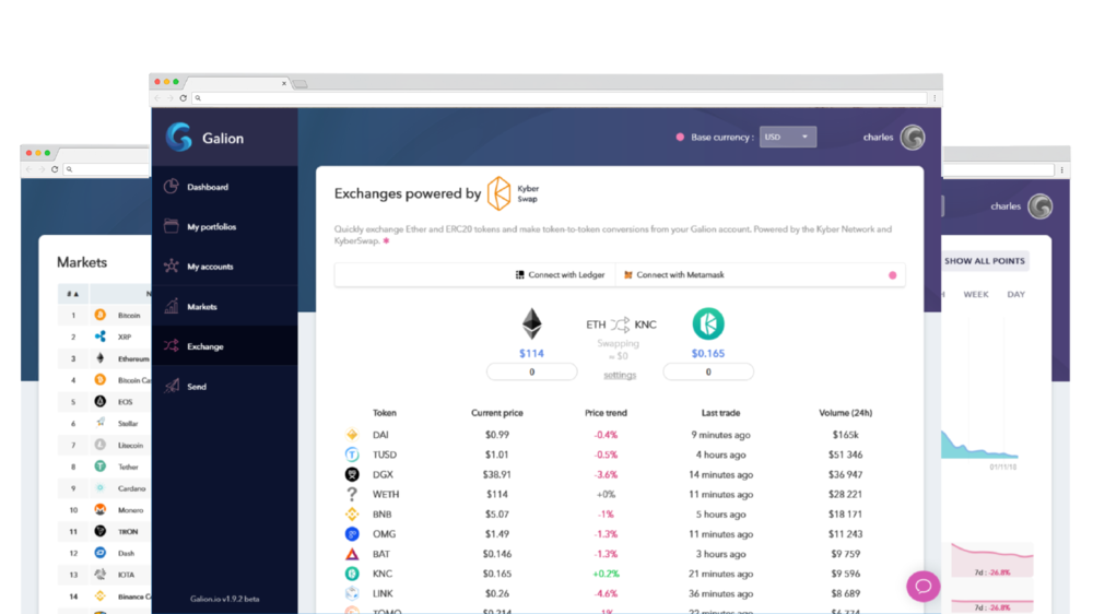 Ledger and Metamask integration - Use the Galion web app to generate and broadcast Ethereum transactions with your Ledger Nano S and Metamask. Security meets simplicity.