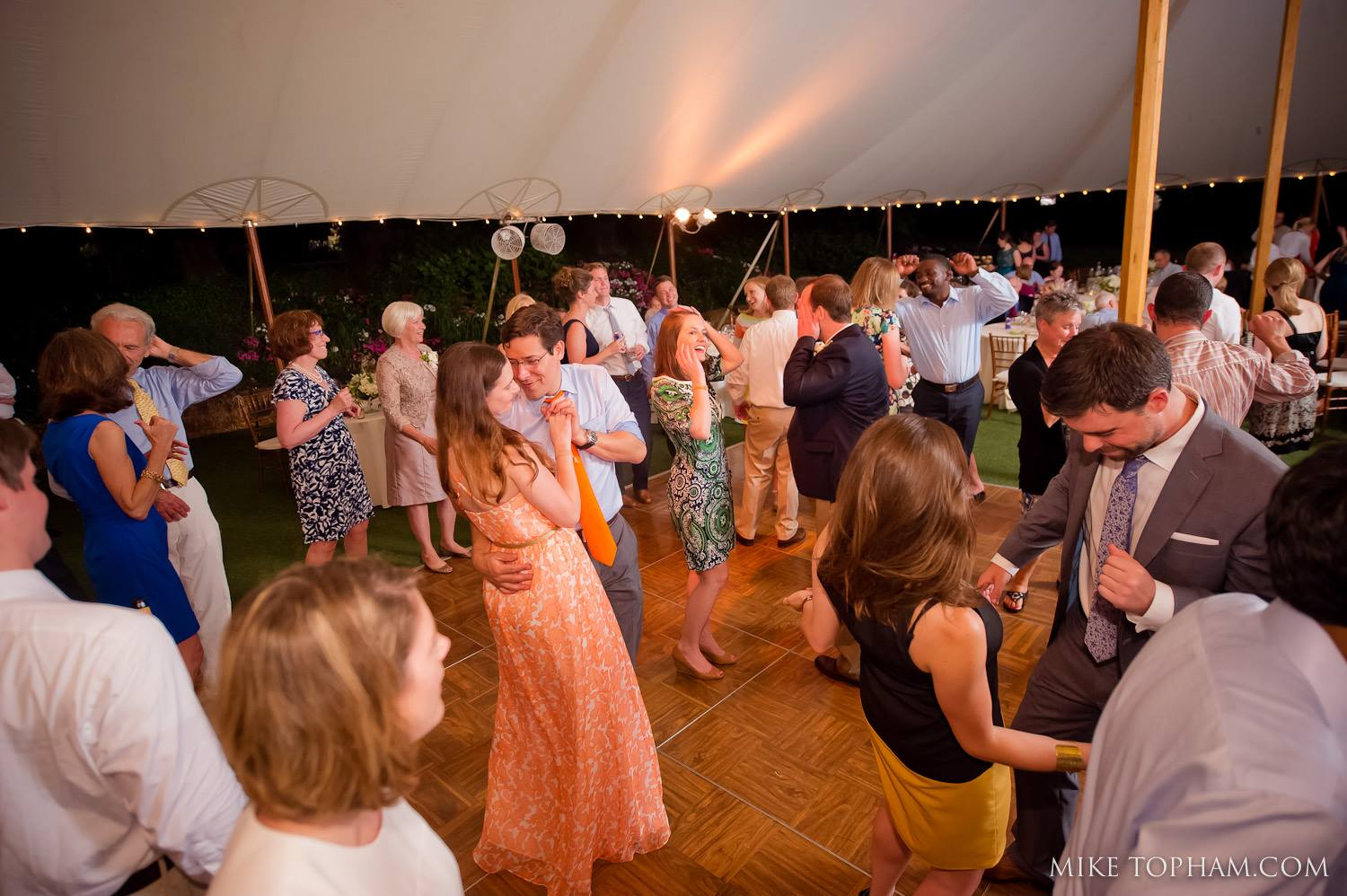outdoor wedding reception in Charlottesville, Virginia